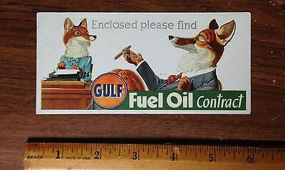 Vintage Gulf Oil Company Fuel Oil  Ink Blotter Unused