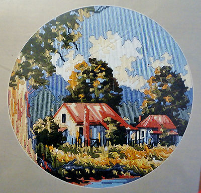 """Long Stitch Kit  Not Started  """"Country Farmhouse"""""""