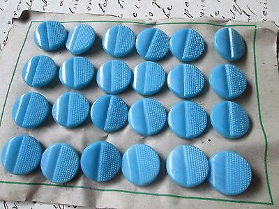 Antique-Vintage blue glass buttons   of 24 pieces