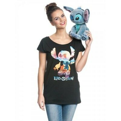 Lilo & Stitch Ladies T-Shirt On The Beach Taglia M