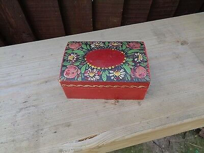 Old Painted wooden box