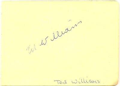 Ted Williams signed autograph album page 1960s English show jumping champion