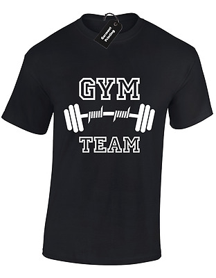 Gym Team Mens T Shirt Funny Training Top Weightlifting New S - 5Xl