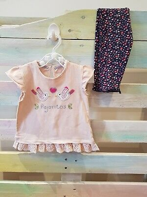 girls 6-9 month outfit top and leggings
