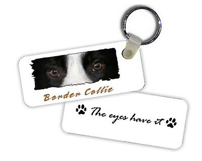"""Border  Collie  # 2  """" The  Eyes Have It  """"  Key  Chain"""