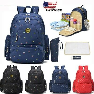 Large Capacity Multifunctional Mummy Nappy Backpack Maternity Baby Diaper Bags