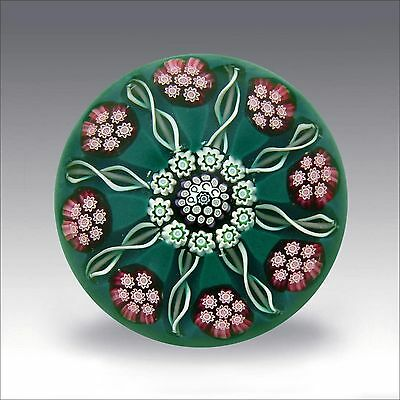 Perthshire special PPCC millefiori glass paperweight / presse papiers