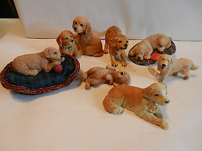 Mixed Lot of 7 Collectible Golden Retriever Figurines with Tags (1)