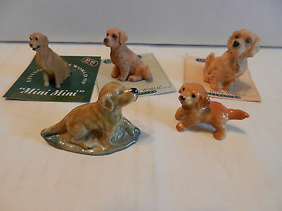 "Lot of 5 Collectible Golden Retriever Mini's 1 1/4"" - 2"" (B)"