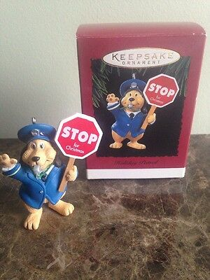 Hallmark Keepsake Ornament, Holiday Patrol, 1994, QX5826, Dog, Crossing Guard