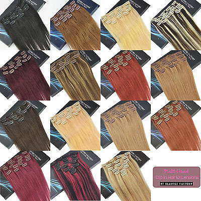 Clip In Human Hair Extensions Remy Real Human Hair Extension Choose Size & Color