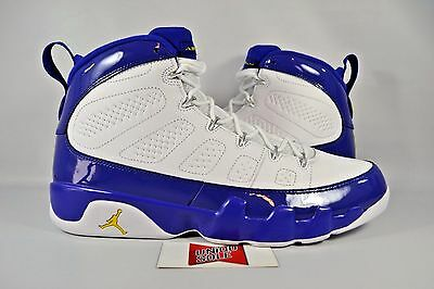 0b140bedbe5d0b NEW AIR JORDAN IX 9 Retro KOBE BRYANT PE LAKERS 302370-121 sz 18 ...