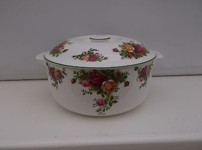 """Royal Albert  """"Old Country Roses""""  Auflaufform m Deckel / Country Bakeware"""
