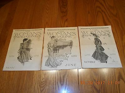 Vintage 1903 The Woman's Magazine - May, June & October George Blake Covers