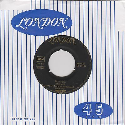 Jerry Lee Lewis - Breathless / Down the Line - 45 RpM Vinyl Single  1958