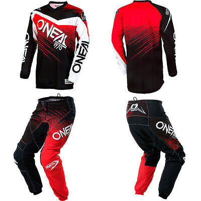 ONeal Element Red motocross off-road MX dirtbike gear - Jersey Pants Combo Set
