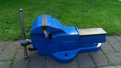 """Record No 24 QUICK RELEASE HEAVY DUTY BENCH VICE 5 1/4"""" ENGINEERS / FITTERS"""