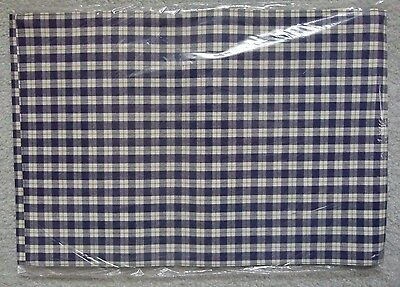 NEW Set of 2 Longaberger Fabric Placemats Blue Ribbon Plaid Pattern NIP #2036014