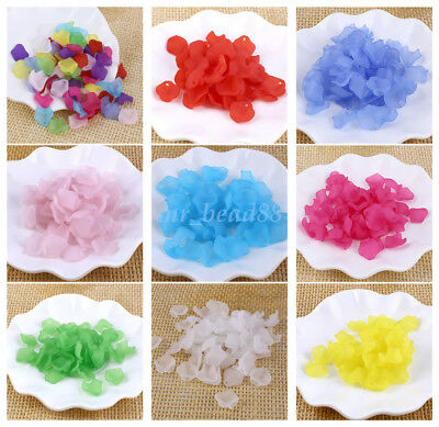 30pcs Acrylic Flower Petals Beads Jewerly Making DIY craft 15mm for Hairwear New