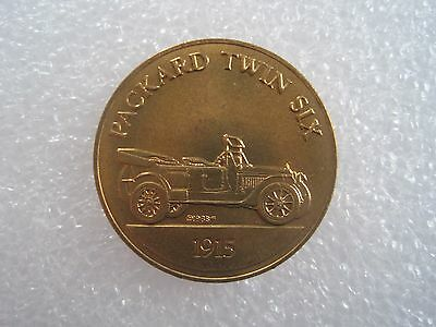 Packard Twin Six 1915 Antique Car Token Coin