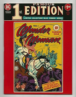 WONDER WOMAN #1 GORGEOUS NEAR MINT+ - FAMOUS FIRST EDITION From 1975 - KEY Issue