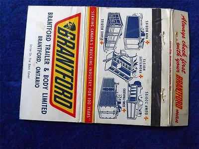 Brantford Truck Trailer Body Frontlift Hoists Stake Semi Dump Vintage Matchbook