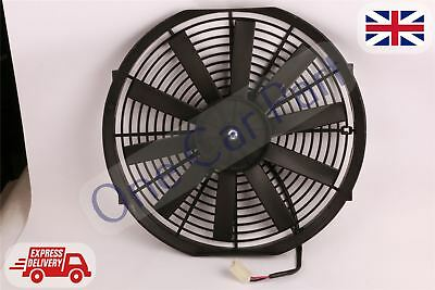 "14"" Curved Universal Engine Radiator Intercooler Cooling Electric Fan 12V 80W"