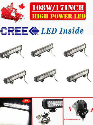6 X 17inch 108w CREE LED Work Light Bar Combo Beam Offroad Driving Light SUV 4WD