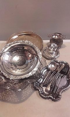 Bundle of EPNS silver plate ...trays,cutlery etc