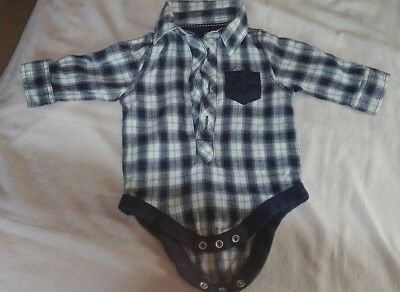 Boys shirt with poppers 0-3 months