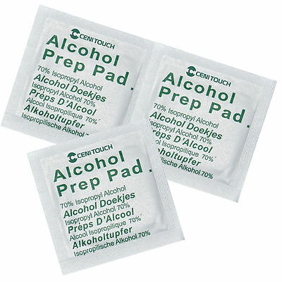 Alcotip Pre-Injection Alcohol 70% Wipes Swabs - UK Seller - TATTOO, NAILS ETC
