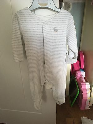 baby boys m&s velour sleepsuit age up to 3m