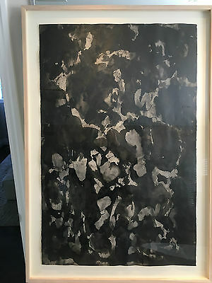 Very Rare Abstraction Ink from well listed Canadian,Quebec Painter Jean Goguen