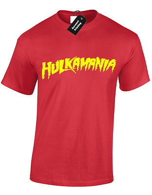Hulkamania Mens T Shirt Funny Wrestling Wwe Top Hogan Raw Hulk Smackdown S - 5Xl