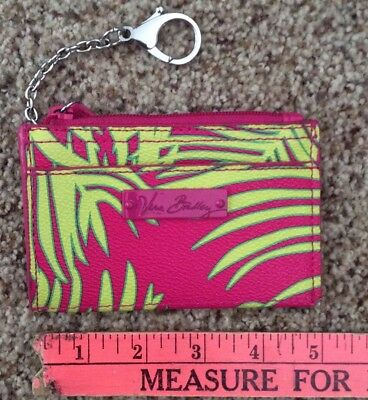 Vera Bradley  Plastic Like Material Change Coin Card Purse With Key Chain