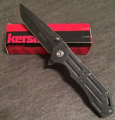 Kershaw Headgrille-Spring Assisted Opening-Blackwash Series-New Factory Sealed