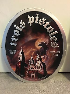 Unibroue Trois Pistoles   Tin Sign Nice Approx 15.5x18