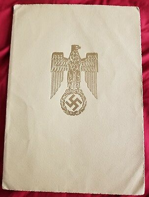 Original WWII Luftwaffe promotion certificate signed by Goering
