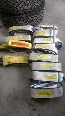 4''x10' polyester lifting sling 22000 LBS basket pounds 4 inch 10 foot