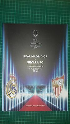 2016 Uefa Super Cup Final Real Madrid V Saville Fc