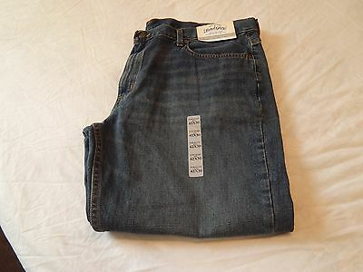 Faded Glory Mens Jeans- Straight Denim- 42 X 30 -NEW