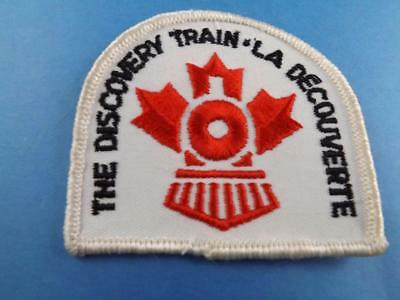 The Discovery Confederation Train Cn Railroad  Closed 1980 Vintage Patch Badge