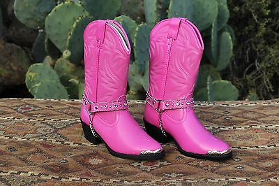 Austin Trading Co. Girls Pink Cowboy Boots Kids Cowgirl Rodeo Size 11 12 13