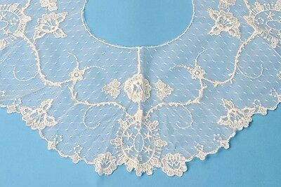 """Cameo Lace Collar Vintage New In Original Pkg White 7.5"""" Wide 18"""" Neck"""