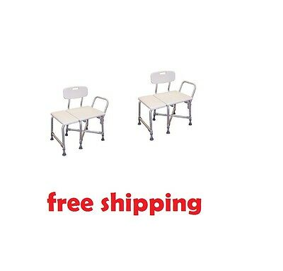 Medical Deluxe Bariatric Transfer Bench Safety Stability 600 lb Weight Capacity