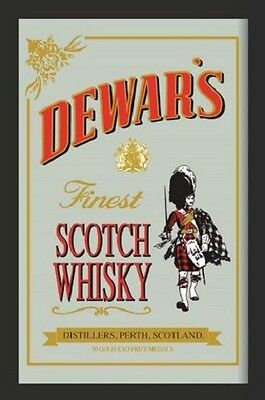 Dewars finest Scotch Whisky Nostalgia Bar Mirror 8 11/16x12 5/8in