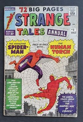 Strange Tales Annual #2 • 3Rd Spider-Man Appearance • Vg- (3.5) • Infinity War