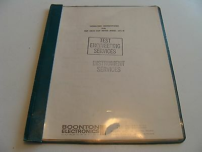 Boonton 101-B UHF Grid DIP Meter Instruction & Maintenance Manual