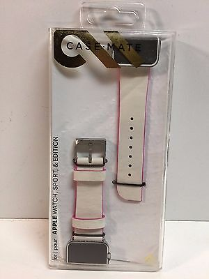 Case-Mate - Signature APPLE, SPORT AND EDITION - White/Pink 38mm