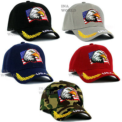 USA American Flag hat Eagle with Stars and Stripes embroidered Baseball cap